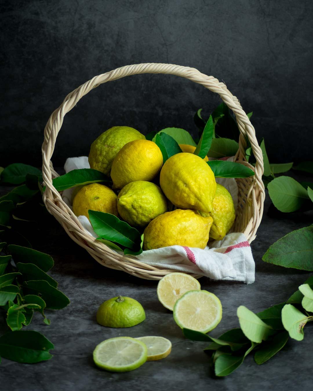 lemons in a basket