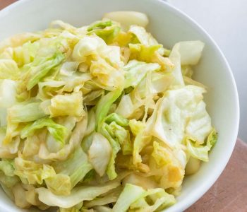 a bowl of cabbage stir-fry