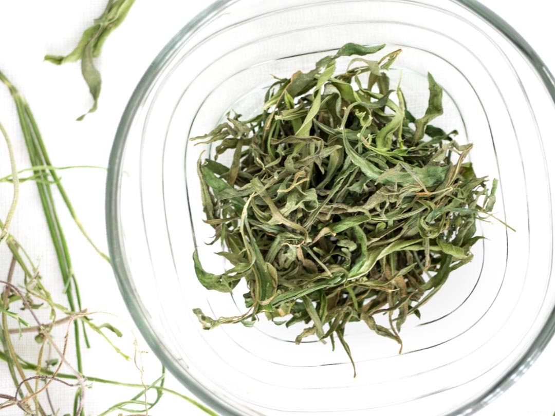 homegrown dried tarragon