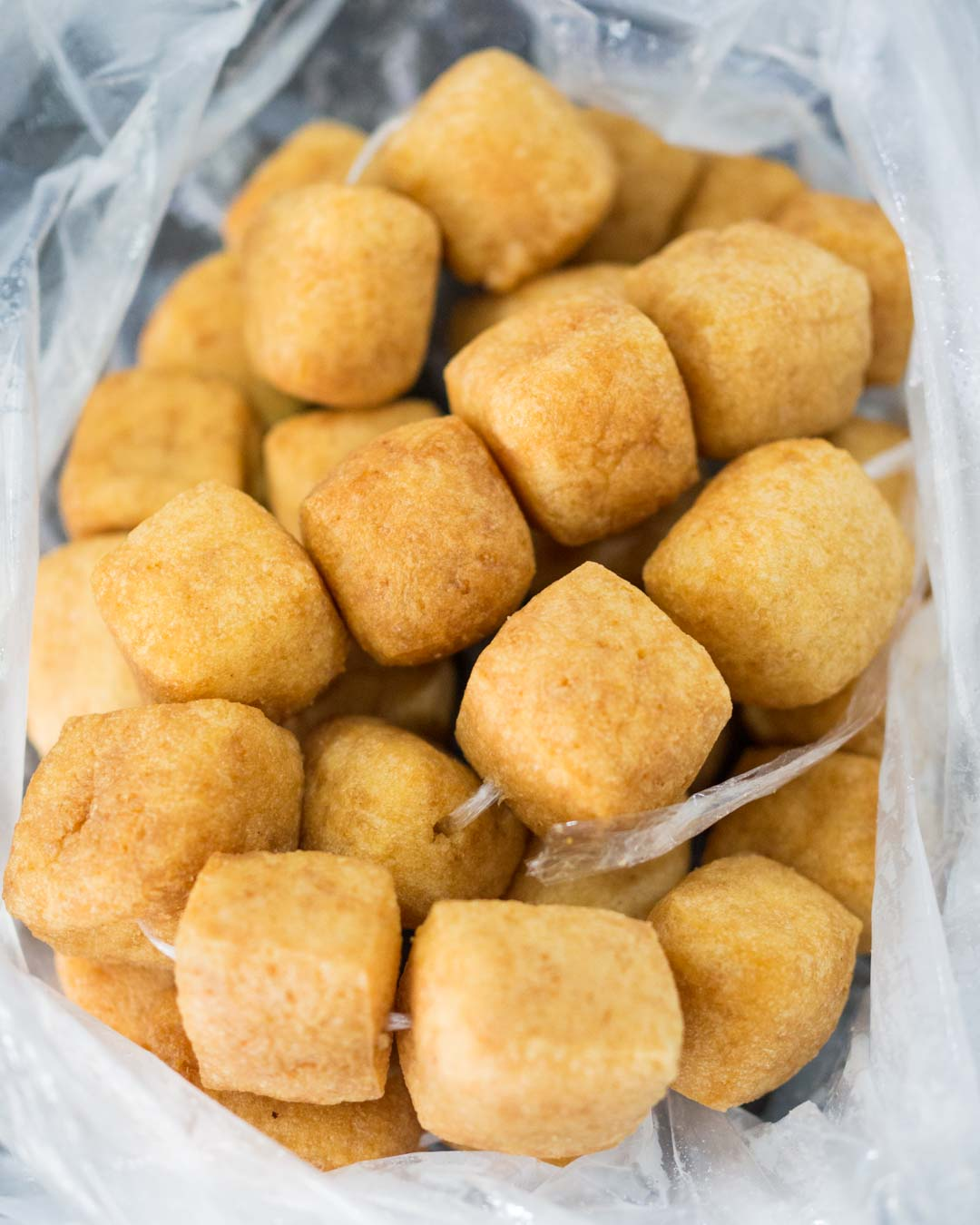 fried tofu in a bag