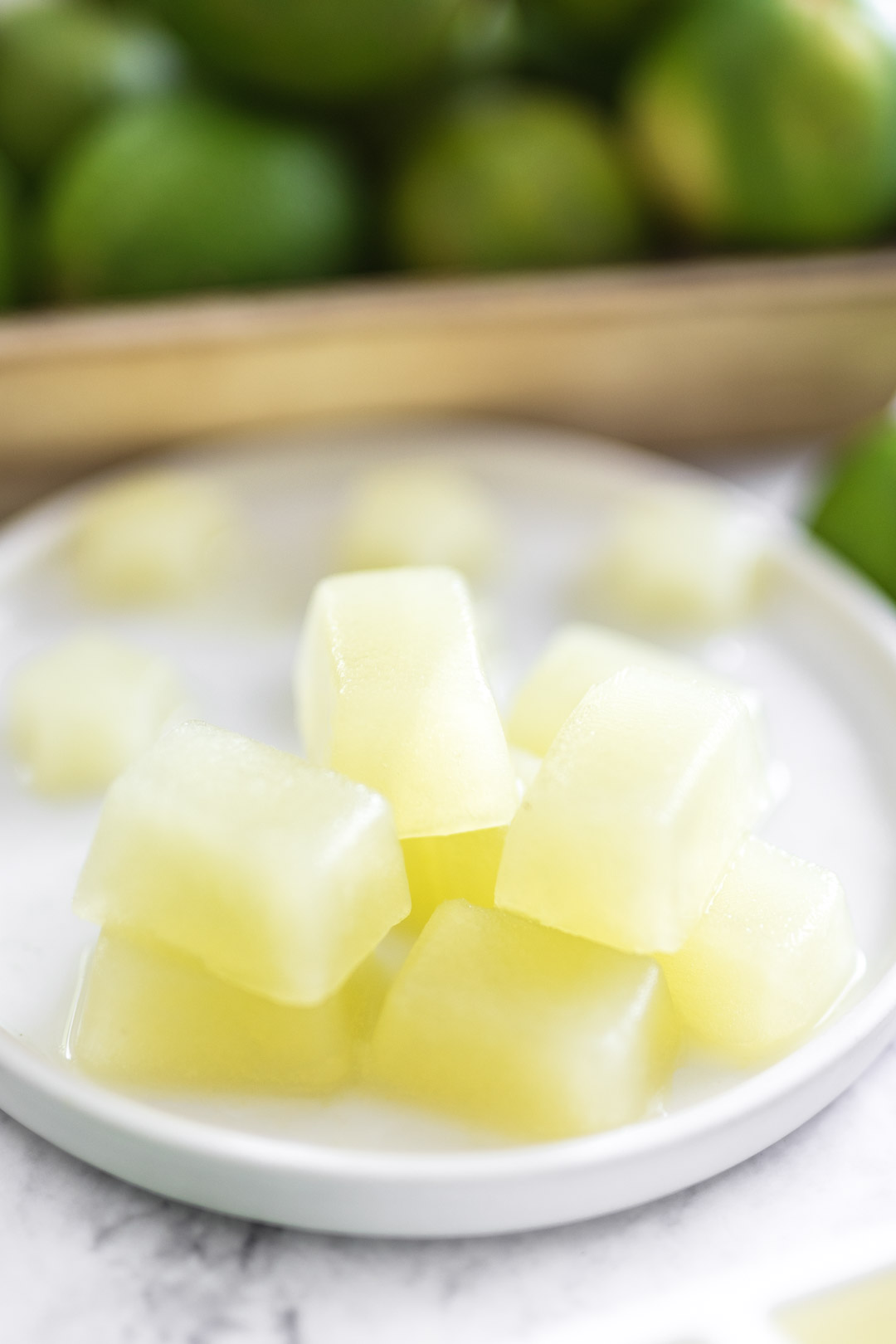 lime juice cubes