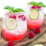 2 glasses of raspberry lime vodka cocktail