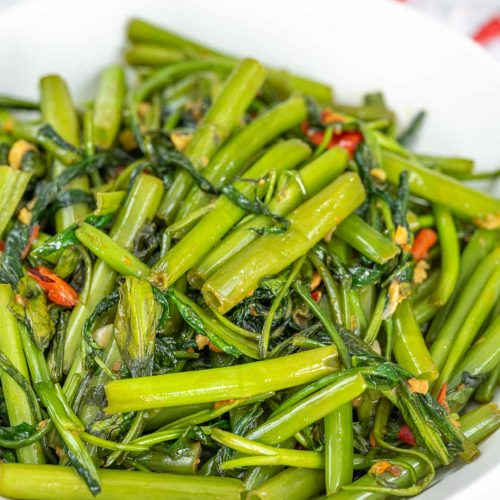 Stir Fried Water Spinach Recipe Cooking With Nart