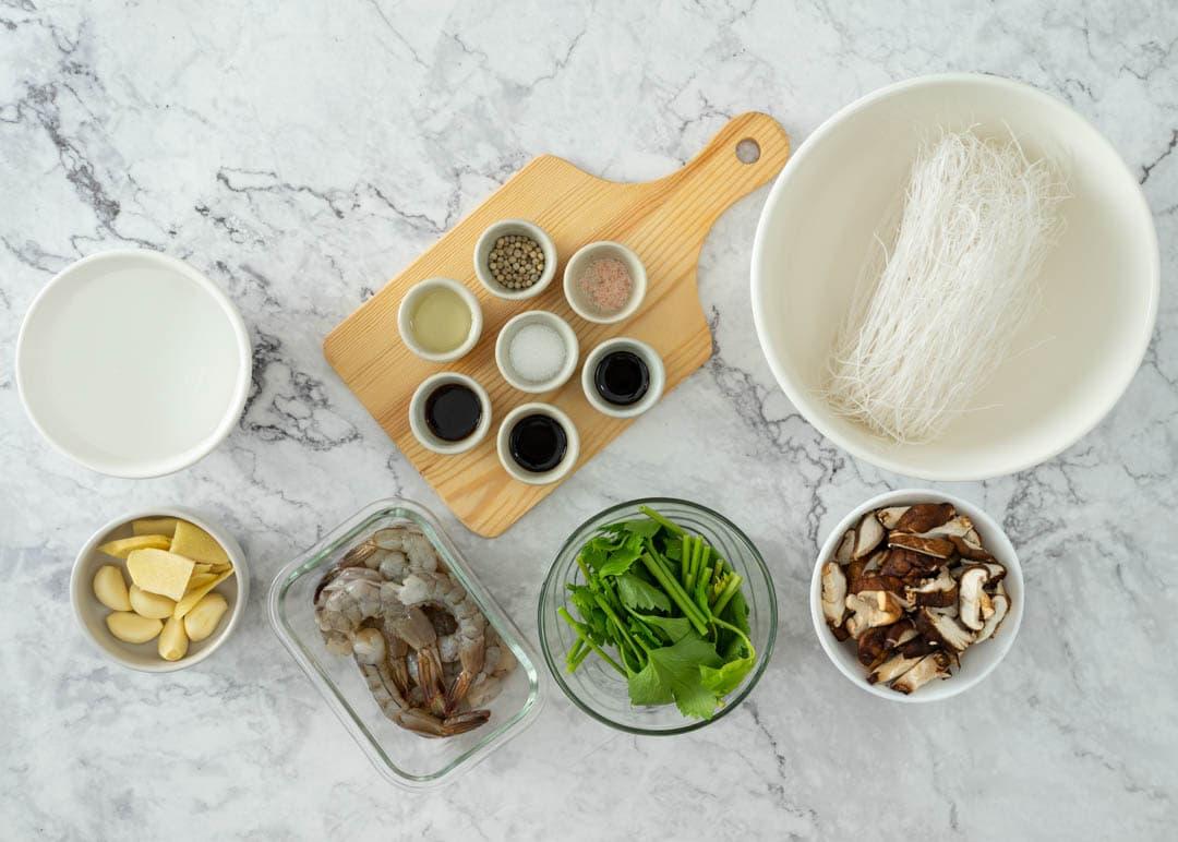 Thai goong ob woonsen ingredients