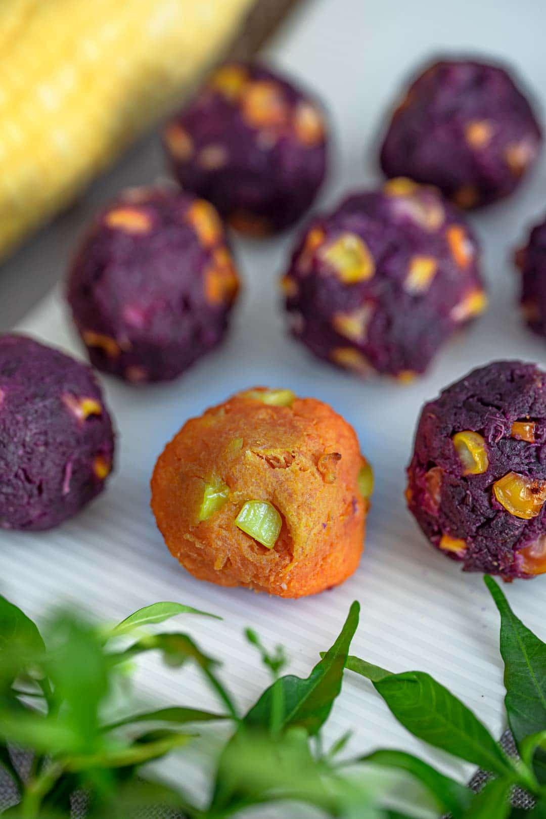 popular Thai grilled sweet potato snack